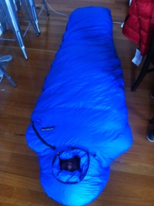 Not sure whether a sarcophagus or sleeping bag...